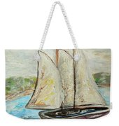 On A Cloudy Day - Impressionist Art Weekender Tote Bag