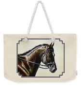 Dressage Horse - Concentration Weekender Tote Bag by Crista Forest