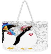 Cold Feet Warm Hearts Weekender Tote Bag