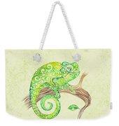 Swirly Chameleon Weekender Tote Bag