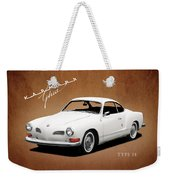 Vw Karmann Ghia Weekender Tote Bag by Mark Rogan
