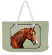 Morgan Horse - Flame Weekender Tote Bag by Crista Forest