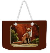 Sun Fox Weekender Tote Bag by Crista Forest