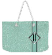 1920s Blue Deco Jazz Swing Monogram ...letter A Weekender Tote Bag