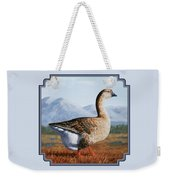 Brown Chinese Goose Weekender Tote Bag by Crista Forest