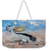 Pelican Beach Walk - Impressionist Weekender Tote Bag