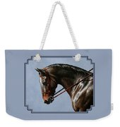 Horse Painting - Discipline Weekender Tote Bag by Crista Forest