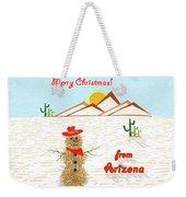 Arizona Tumbleweed Snowman Weekender Tote Bag