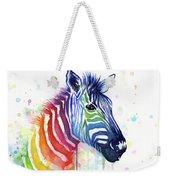 Rainbow Zebra - Ode To Fruit Stripes Weekender Tote Bag