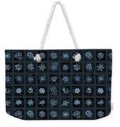 Snowflake Collage - Season 2013 Dark Crystals Weekender Tote Bag