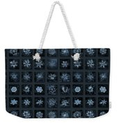 Snowflake Collage - Season 2013 Dark Crystals Weekender Tote Bag