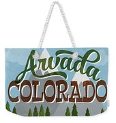 Arvada Colorado Snowy Mountains	 Weekender Tote Bag