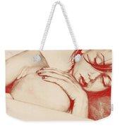 As Heaven Awaits - Red Weekender Tote Bag