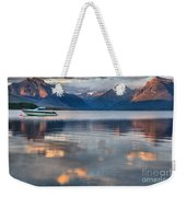 As The Day Ends At West Glacier Weekender Tote Bag