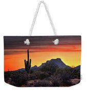 As The Sun Sets On Red Mountain  Weekender Tote Bag