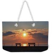 Asbury Park Boardwalk Sunrise Weekender Tote Bag