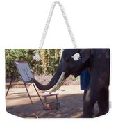 Asian Elephant Painting Picture Weekender Tote Bag