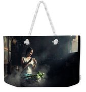 Asian People With Cooking, Living In Rural Countryside, Rural Th Weekender Tote Bag