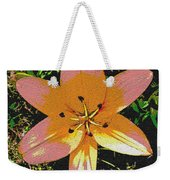 Asiatic Lily With Sandstone Texture Weekender Tote Bag