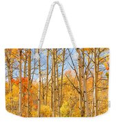 Aspen Fall Foliage Vertical Image Weekender Tote Bag