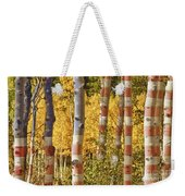 Aspen Gold Red White And Blue Weekender Tote Bag