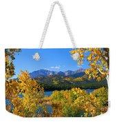 Aspen On Pikes Peak And Crystal Reservoir Weekender Tote Bag