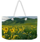 Aspen Sunflower And Mountain Landscape Weekender Tote Bag