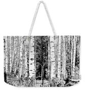 Aspens And The Pine Black And White Fine Art Print Weekender Tote Bag