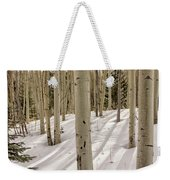 Aspens In Winter 2 Panorama - Santa Fe National Forest New Mexico Weekender Tote Bag