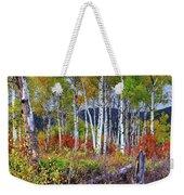 Aspens Meet Autumn Weekender Tote Bag