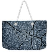 Asphalt Pavement With Cracks On The Surface Weekender Tote Bag