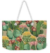Assorted Blooming Cactus Plants Weekender Tote Bag