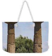 Assos Temple Of Athena Columns Weekender Tote Bag