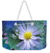 Aster ,  Greeting Card Weekender Tote Bag
