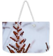 Astilbe Aglow In The Snow Weekender Tote Bag