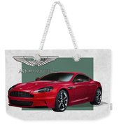 Aston Martin  D B S  V 12  With 3 D Badge  Weekender Tote Bag by Serge Averbukh