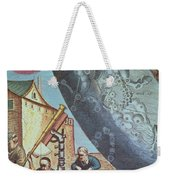 Astronomers Looking Through A Telescope Weekender Tote Bag