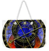 Astronomical Clock In Grunge Style Weekender Tote Bag