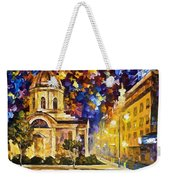 Asuncion Paraguay - Palette Knife Oil Painting On Canvas By Leonid Afremov Weekender Tote Bag