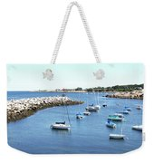 At Anchor In Rockport Ma Harbor Weekender Tote Bag