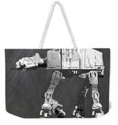 At At Walker From Star Wars Vintage Recycled License Plate Scrap Metal Art Weekender Tote Bag