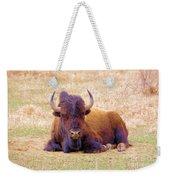 A Buffalo Staring Weekender Tote Bag