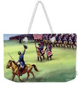 At Saratoga The Colonists Won Victory Weekender Tote Bag
