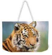 At The Center - Tiger Art Weekender Tote Bag