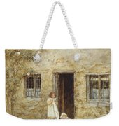 At The Cottage Door Weekender Tote Bag