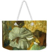 At The Couturier, The Fitting Weekender Tote Bag