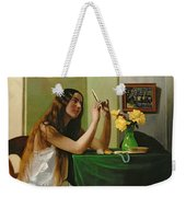 At The Dressing Table Weekender Tote Bag by Felix Edouard Vallotton
