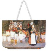 at the florist 1889 Childe Frederick Hassam Weekender Tote Bag