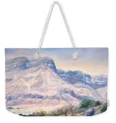 At The Foot Of Mountains Weekender Tote Bag