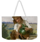 At The Fountain Weekender Tote Bag